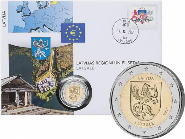 2 Euro Numisbrief Lettland Region Lettgalen 2017