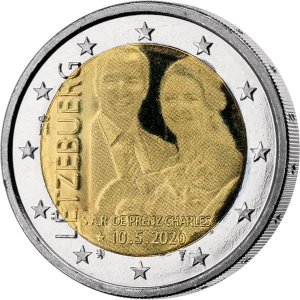 2 Euo Luxemburg Geburt Prinz Charles Hologramm 2020