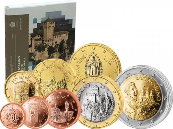Euro-Kursmünzensatz San Marino 2019