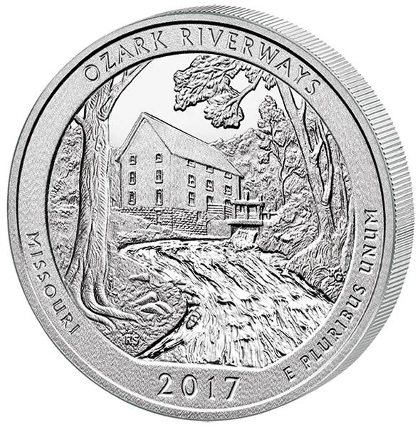 Quarter Dollar 25 Cents USA Missouri Ozark National Scenic Riverways 2017