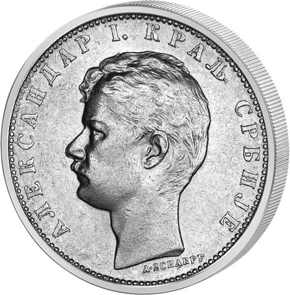 1 Dinar Serbien König Alexander 1897