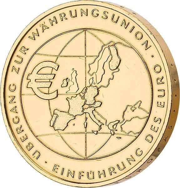 10 Euro BRD Übergang zur Währungsunion 2002 vollvergoldet