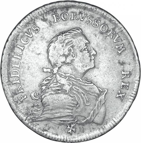 1/2 Taler Brandenburg-Preußen König Friedrich II. der Große 1750 Sehr schön