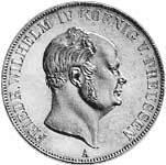 Taler Vereins-Doppeltaler Friedrich Wilhelm IV. 1858-1859  Sehr schön