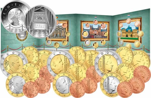 Euro-Kursmünzensätze BeNeLux Die Museen der BeNeLux-Länder 2018