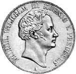 Doppeltaler Friedrich Wilhelm 1839-1841 Silber Sehr schön