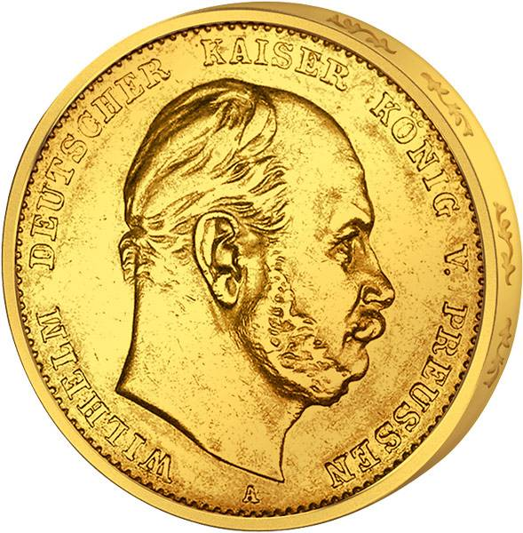 20 Mark Kaiser Wilhelm I. 1874-1888 Sehr schön