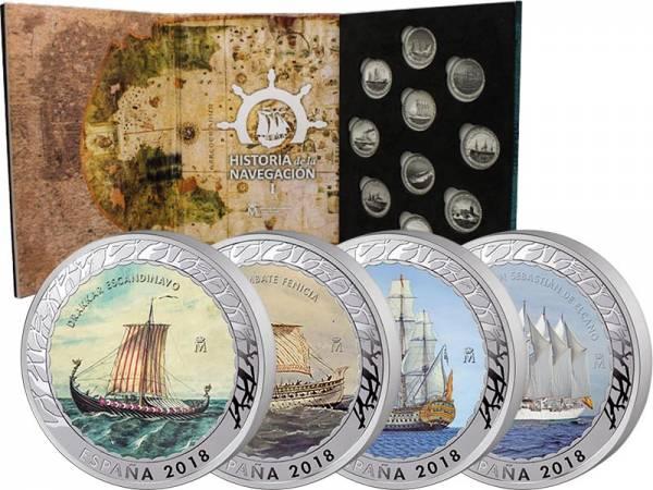 4 x 1,5 Euro Spanien Geschichte der Navigation 2018