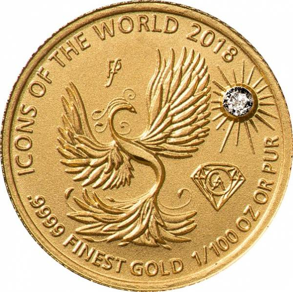 10 Francs Ruanda Gold Affordable Diamond Edition Phönix 2018