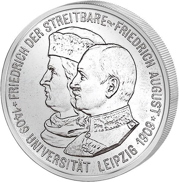 2 Mark Sachsen Universität Leipzig 1909 ss-vz