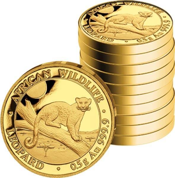10 x 20 Shillings Somalia Leopard 2021