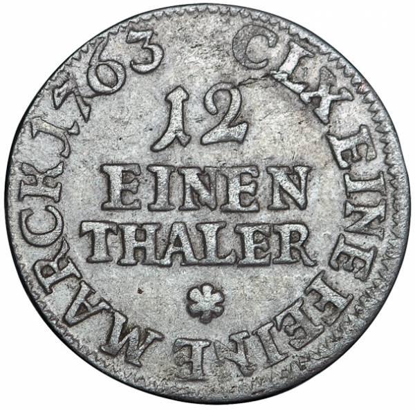 1/12 Taler Sachsen Kurfürst Friedrich August II.