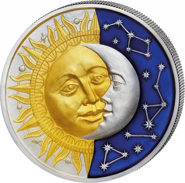 5 Dollars Niue Himmelskörper Sonne und Mond 2017
