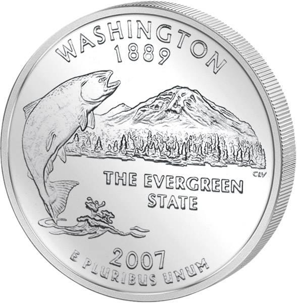Quarter Dollar USA Washington 2007