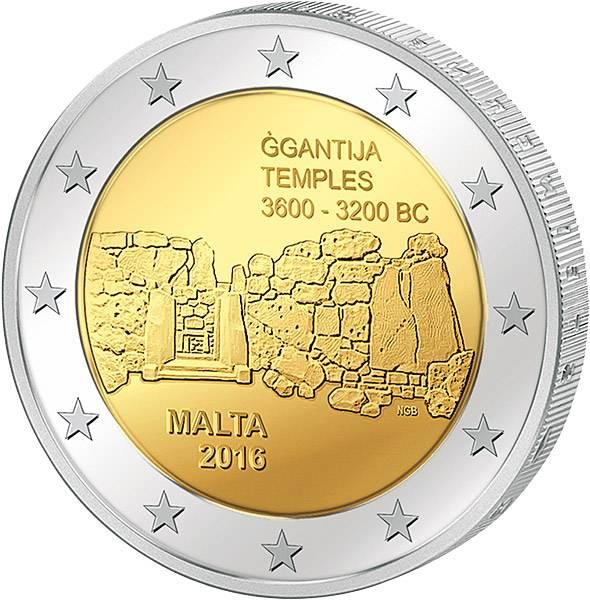 2 Euro Malta Ggantja-Tempel Gozo
