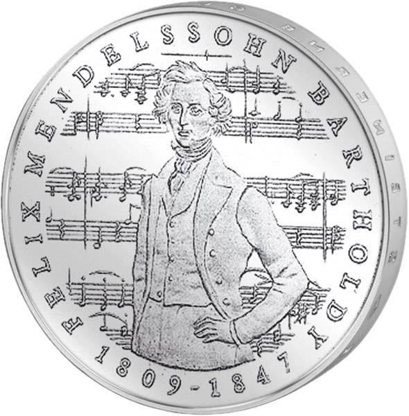 5 DM BRD Felix Mendelssohn Bartholdy 1984