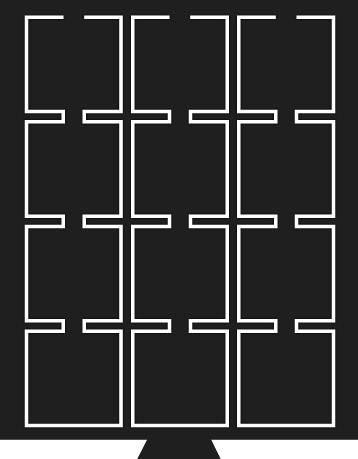 Münzbox mit 12 Fächern rauchfarben