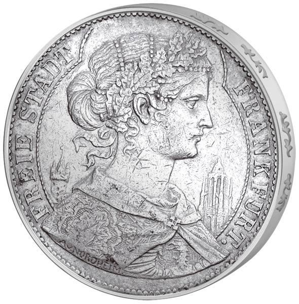 Taler Vereinstaler Frankfurt Francofurtia 1857-1858  Sehr schön