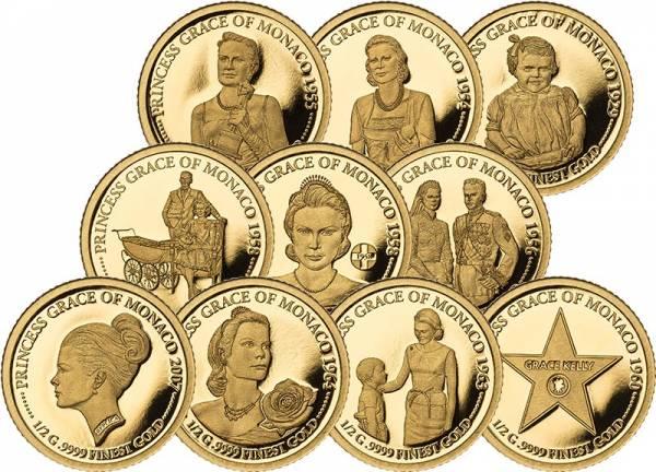 10 x 10 Dollars Salomonen Prinzessin Grace von Monaco - Stationen ihres Lebens 2019
