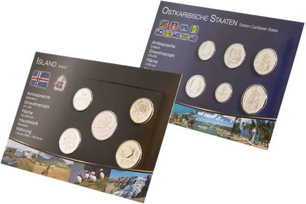 Premium-Kursmünzen-Set Island und Ostkaribische Staaten