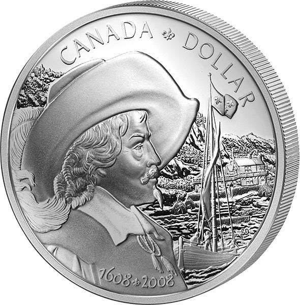 1 Dollar Kanada 400 Jahre Quebec 2008