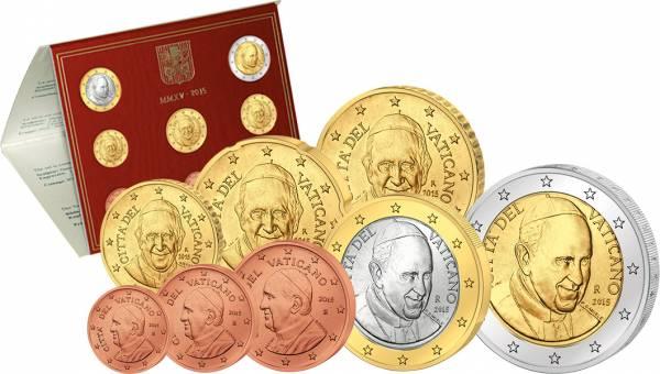 Euro-Kursmünzensatz Vatikan 2015  Stempelglanz