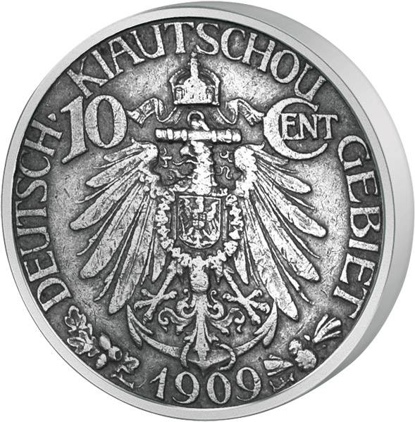 10 Cent  Kiautschou Reichsadler 1909  ss-vz