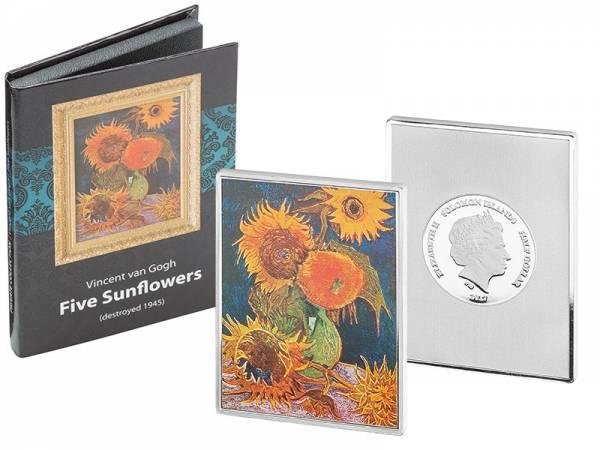 1/2 Dollar Salomonen Vincent van Gogh Fünf Sonnenblumen 2017