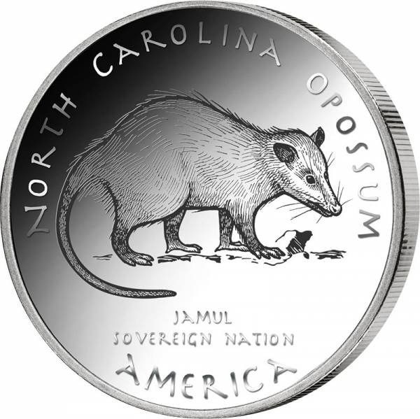1 Dollar USA Native State Dollar Tuscarora Beutelratte North Carolina 2020