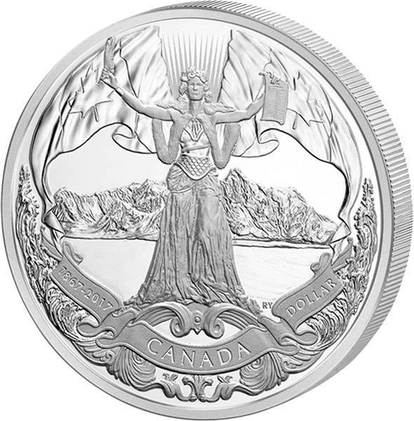 1 Dollar Kanada 150 Jahre Kanadische Konförderation 2017
