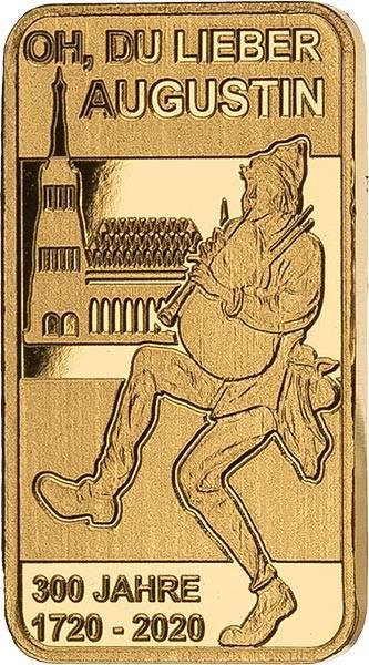 Goldbarren 300 Jahre Oh du lieber Augustin