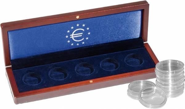 Münzetui für 5 x 25-Euro-Gedenkmünzen in Kapseln