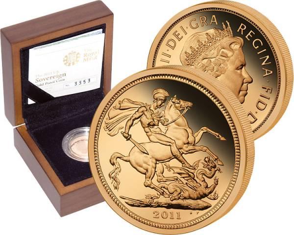 1 Sovereign Großbritannien Elisabeth II. 2011 Polierte Platte