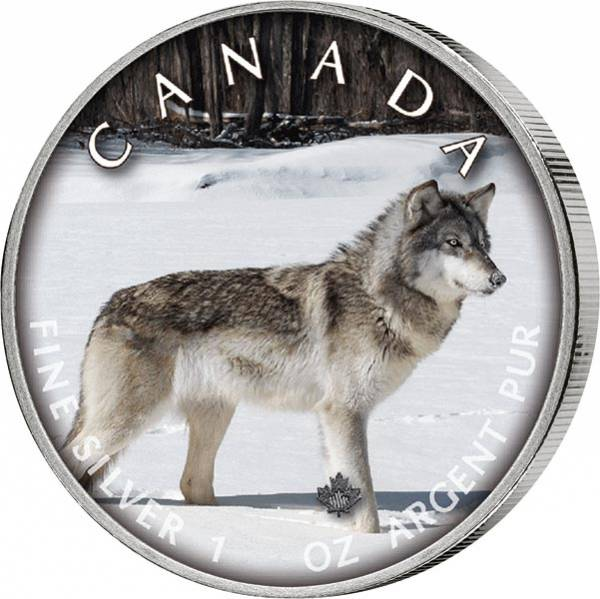 5 Dollars Kanada Trails of Wildlife Wolf 2019