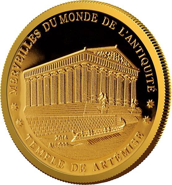 100 Francs Niger Tempel von Artemis 2014 - FOTOMUSTER