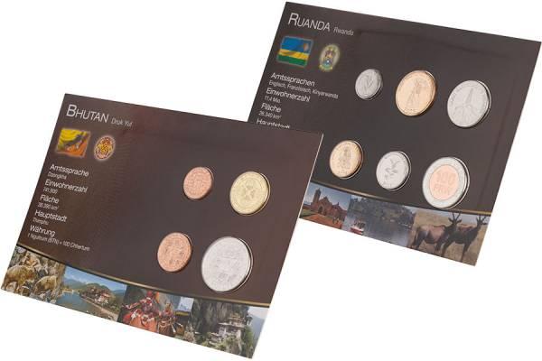 Premium-Kursmünzen-Set Ruanda und Bhutan