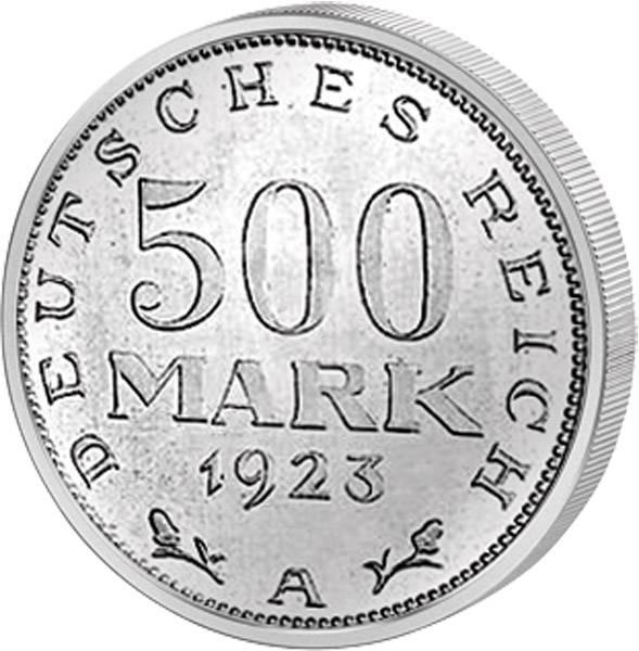 500 Mark Weimarer Republik Adler 1923 ss-vz