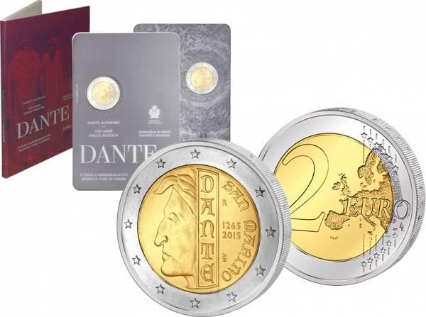 2 Euro San Marino Dante Alighieri 2015 prägefrisch