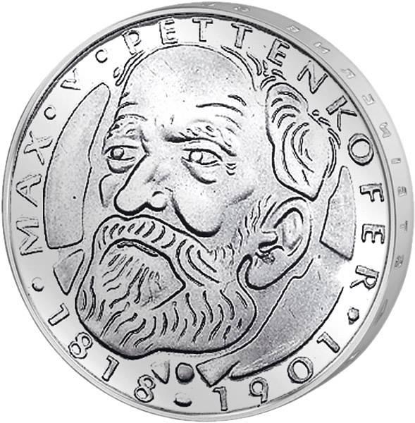 5 DM Münze BRD Maximilian von Pettenkofer