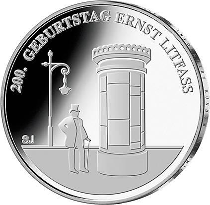 20 Euro BRD 200. Geburtstag Ernst Litfaß 2016
