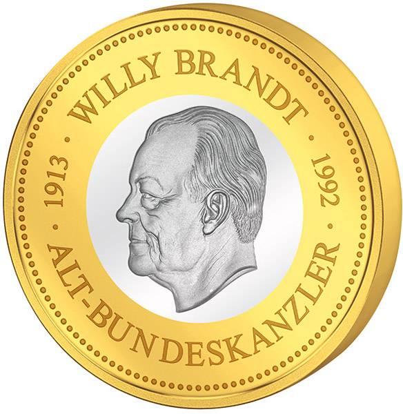Gedenkprägung Willy Brandt