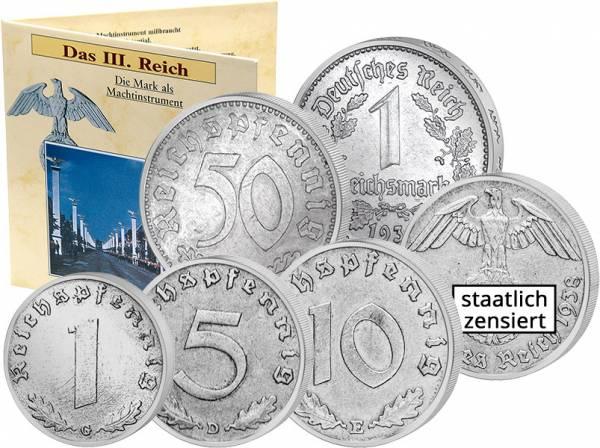 1 Reichspfennig - 1 Reichsmark Drittes Reich 1933-1945