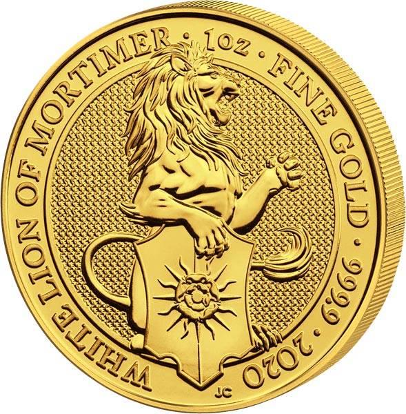 1 Unze Gold Großbritannien Queens Beasts Löwe von Mortimer 2020