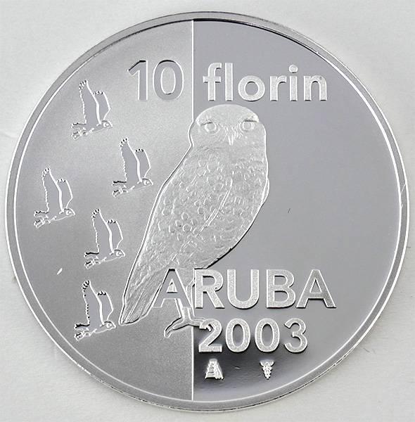 10 Florin Aruba Kaninchenkauz 2003