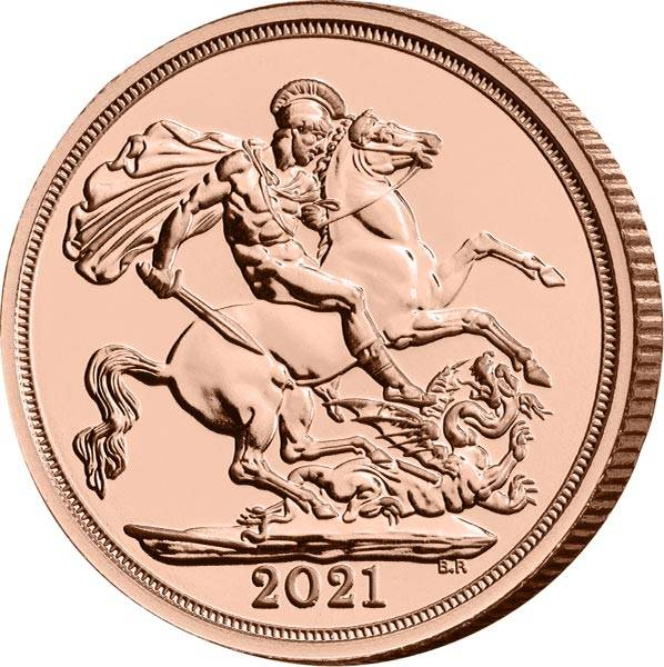 1 Sovereign Großbritannien Queen Elizabeth II. 2021