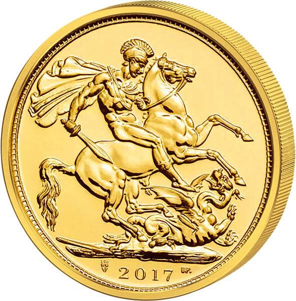 1/2 Sovereign Großbritannien Queen Elizabeth II. 2017