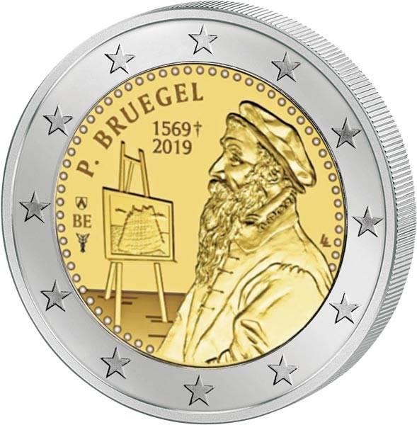 2 Euro Belgien 450. Todestag von Peter Bruegel dem Älteren 2019