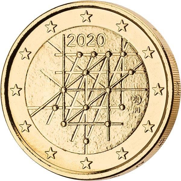 2 Euro Finnland 100 Jahre Universität von Turku 2020 vollvergoldet