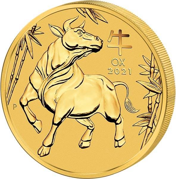 1 Unze Gold Australien Jahr des Ochsen 2021