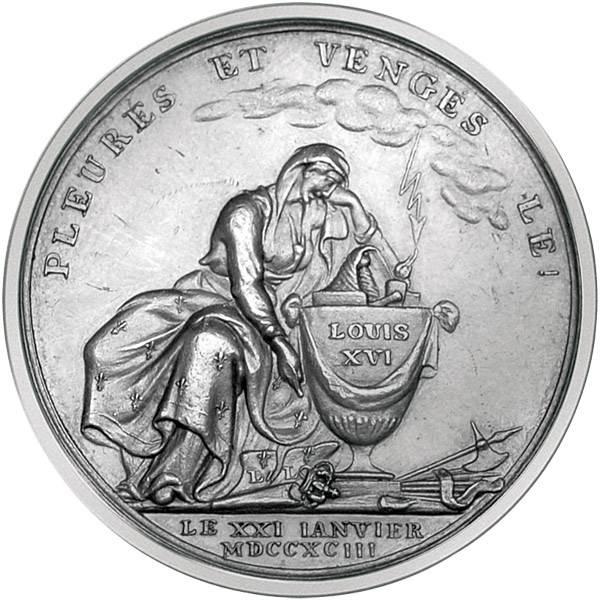 Silbermedaille (Loos) Tod Louis XVI.